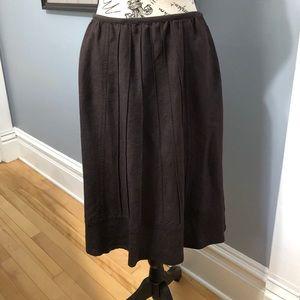 Nic + Zoe Brown Skirt
